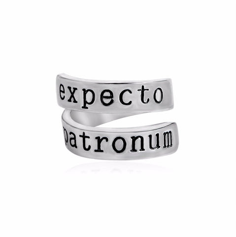 Expecto Patronum Ring Magic Book Inspired Twist Geeky Ring