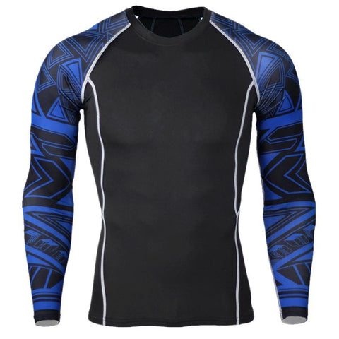 Blue Pattern Rashguard