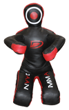 Dummy - Black/Red Leather Grappling Dummy