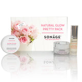 Sonage Natural Pretty Glow Pack – Gift Set -Sonage Glow To Go Glycolic Acid Peel Pads - Safe Natural Exfoliant Anti-Aging Peel Pads - Gentle Exfoliant Best Treatment for Acne