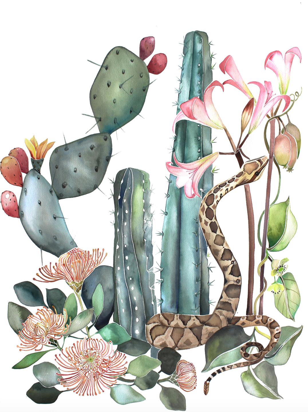 Water Colors by McKella Jo - Tropical Heart