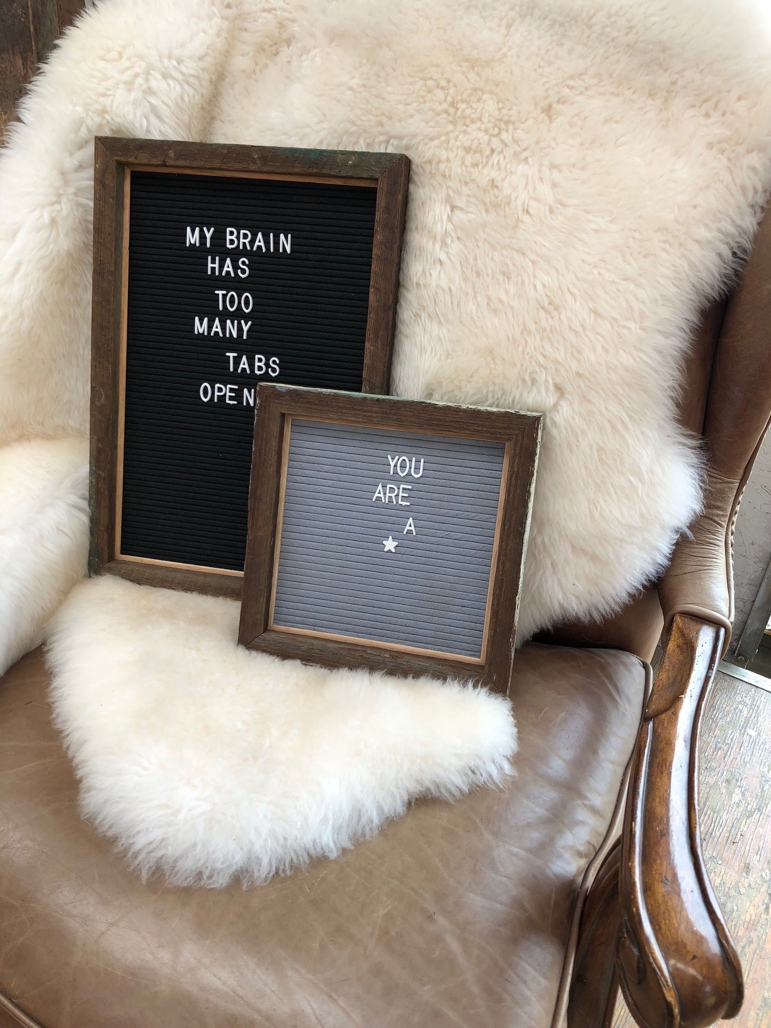 Express Yourself - Reclaimed Wood Felt Letter Boards