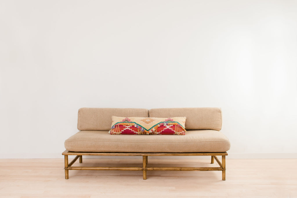 Rental - Tan Vintage Sofa