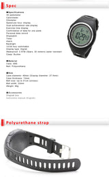 3D Pedometer walking digital watch