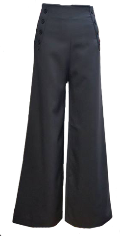 Sailor Pants- Charcoal with Black Buttons