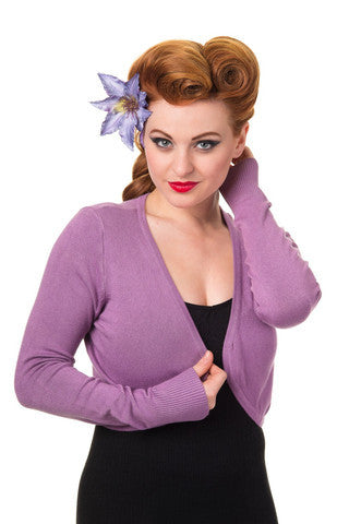 Long Sleeve Bolero- Lilac