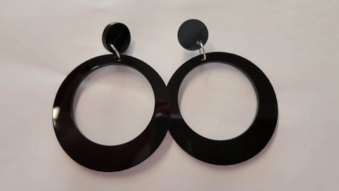 Retro Holly Hoops- Black