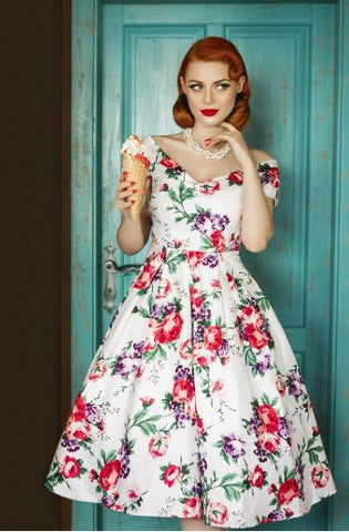 Lily White Floral Dress