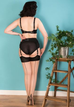 WKD Seamed Stockings- Black