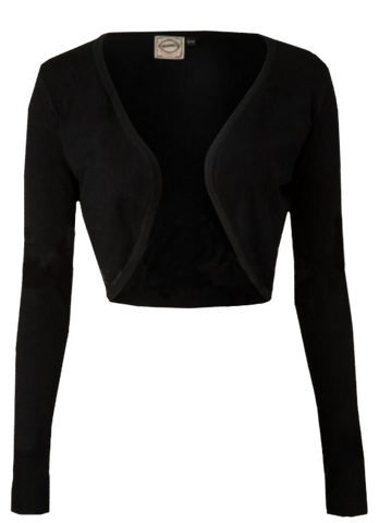 Long Sleeve Bolero- Black