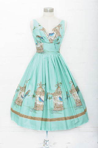 Mint Budgie Dress- LAST ONE SIZE 12