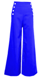 Sailor Pants- Royal Blue with White Buttons