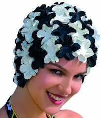 Vintage Reproduction Bathing Cap- Black & White