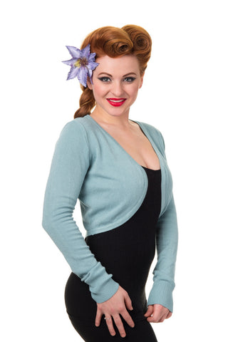 Long Sleeve Bolero- Light Blue