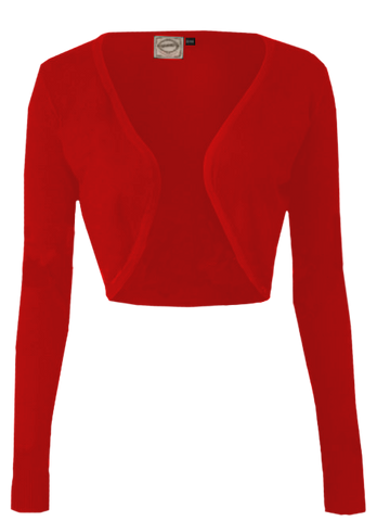 Long Sleeve Bolero- Red