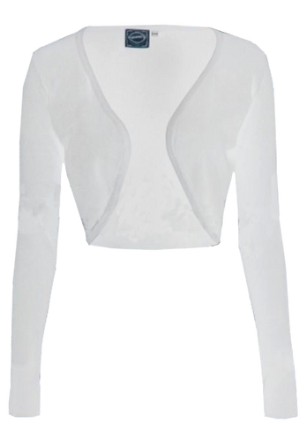 Long Sleeve Bolero- White