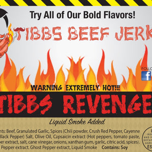 tibbs revenge sticker ingredients list