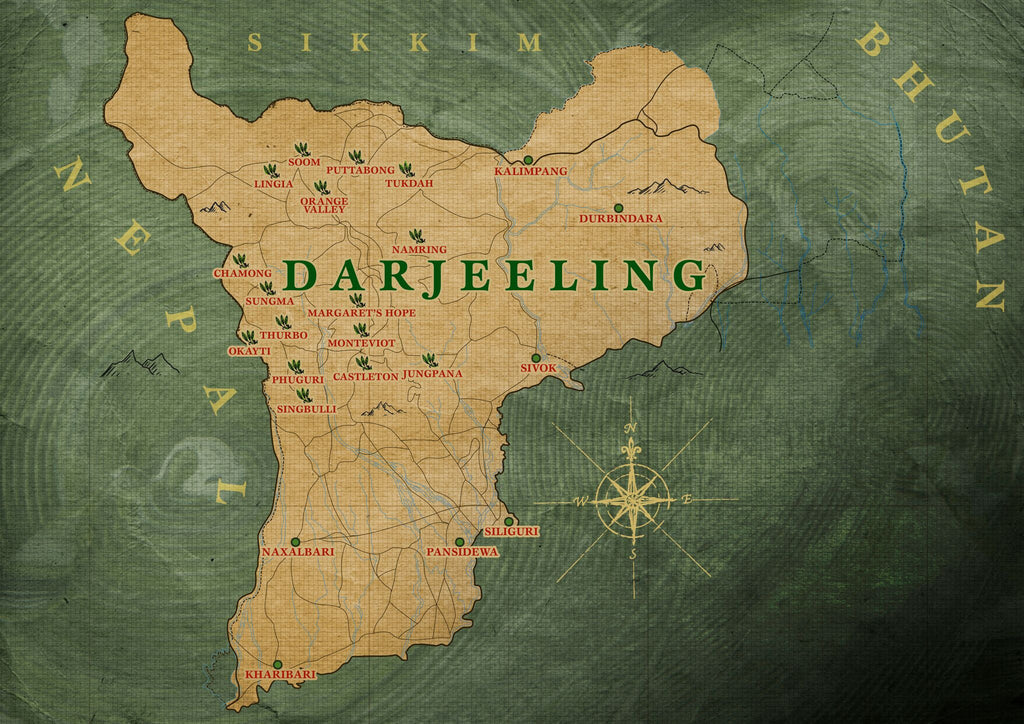 Darjeeling TWG Tea Canada Map