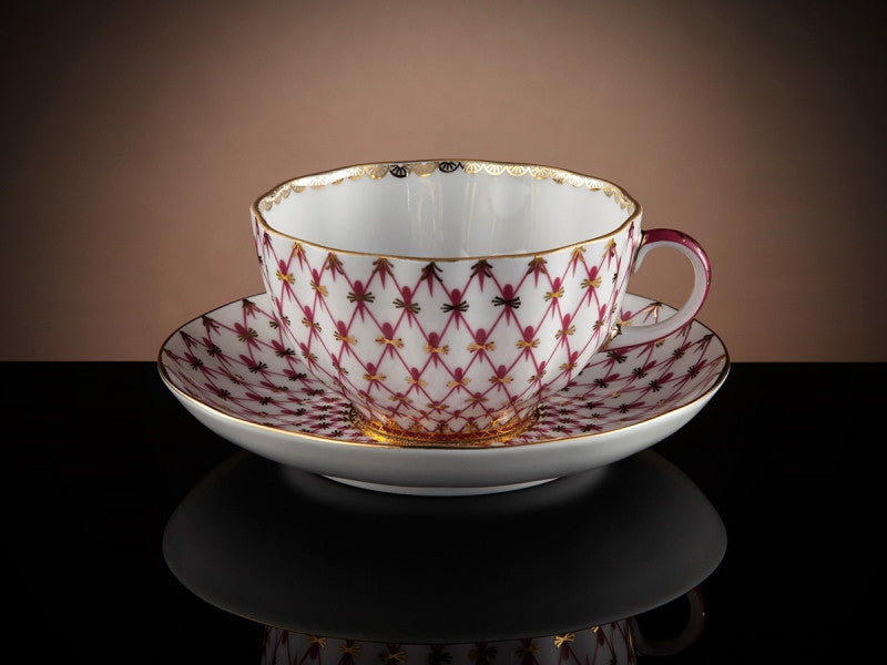 TWG Tea Tsarina Teacup & Saucer in Violet