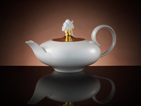 Design Gold Teapot in White (500ml)