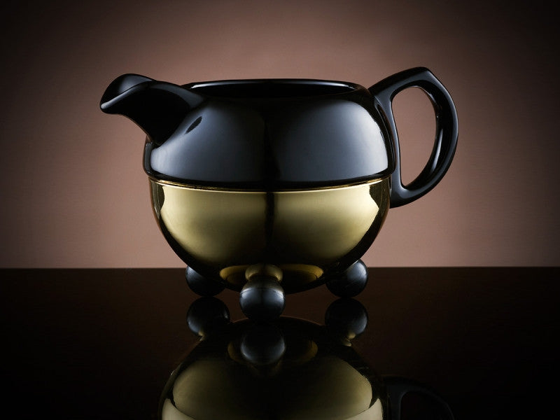TWG Tea Design Creamer in Black and Gold