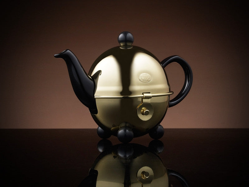 TWG Tea Design Gold Teapot in Black (180ml)
