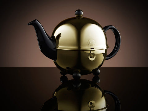 Design Gold Teapot in Black (500ml)