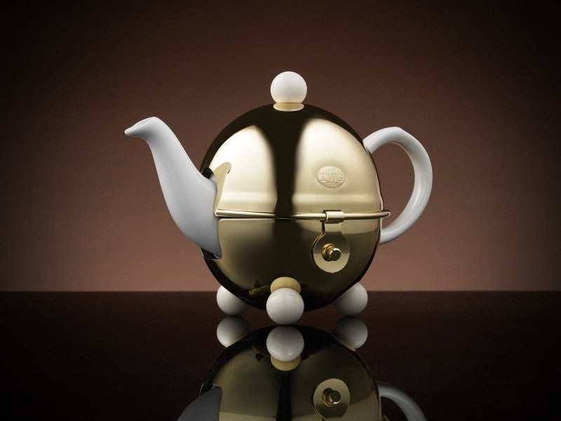 TWG Tea Design Gold Teapot in White (180ml)