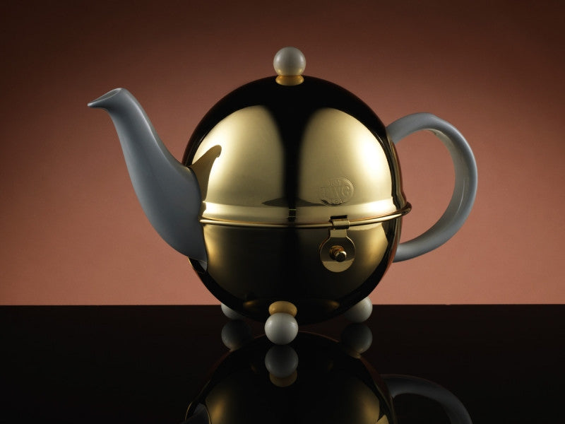 TWG Tea Design Gold Teapot in White (500ml)