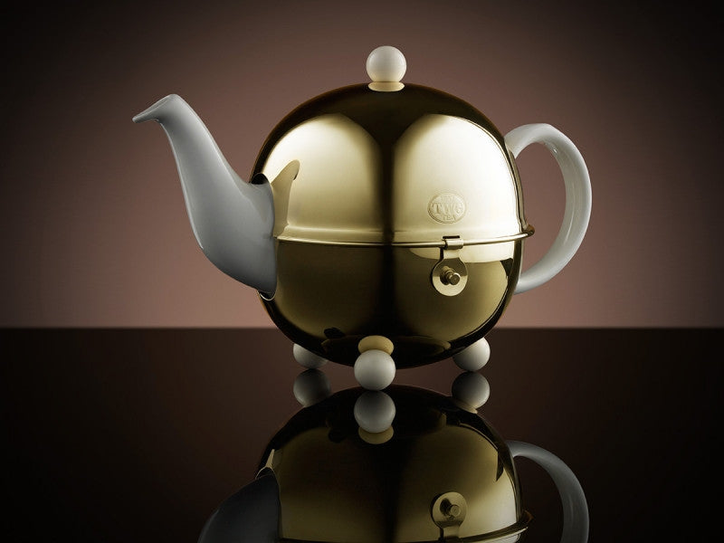 TWG Tea Design Gold Teapot in White (900ml)