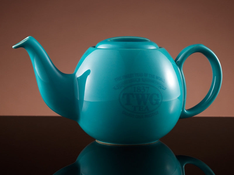 TWG Tea Design Orchid Teapot in Turquoise (900ml)
