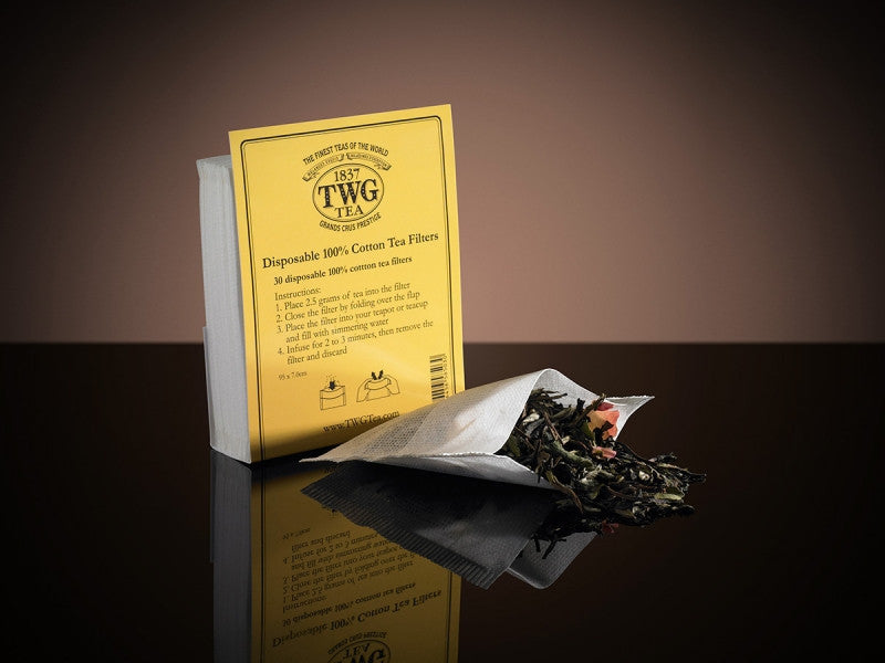 TWG Tea Disposable Cotton Tea Filter (pack of 30 pieces)