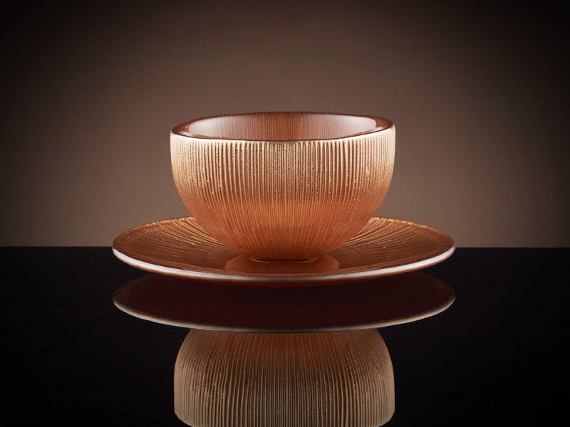 TWG Tea Firefly Tea Bowl & Saucer in Copper