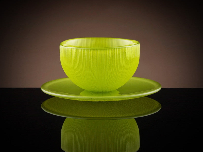 TWG Tea Firefly Tea Bowl & Saucer in Green