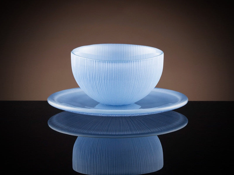 TWG Tea Firefly Tea Bowl & Saucer in Sky Blue