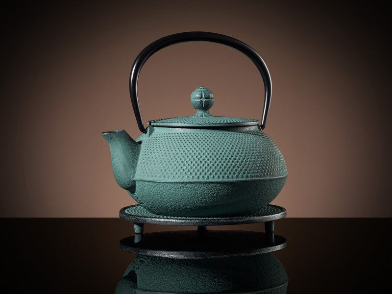 TWG Tea Mikado Teapot & Trivet in Green (600ml)