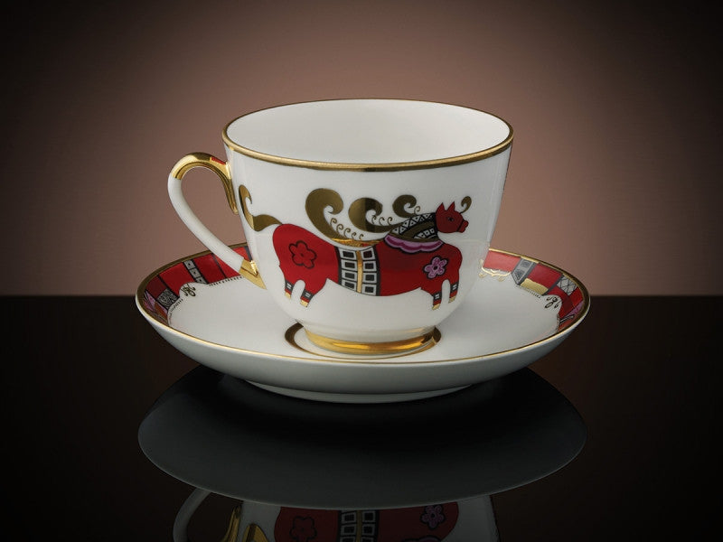 TWG Tea Russian Horse Teacup & Saucer