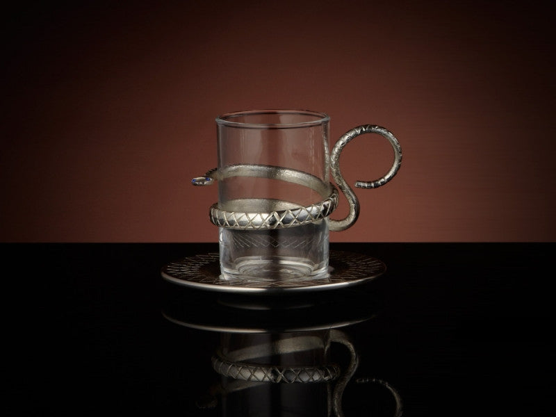 TWG Tea Sahara Teacup & Saucer with Silver Plating