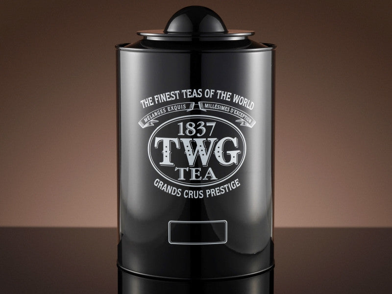 TWG Tea Saturn Tea Tin in Black (1kg)