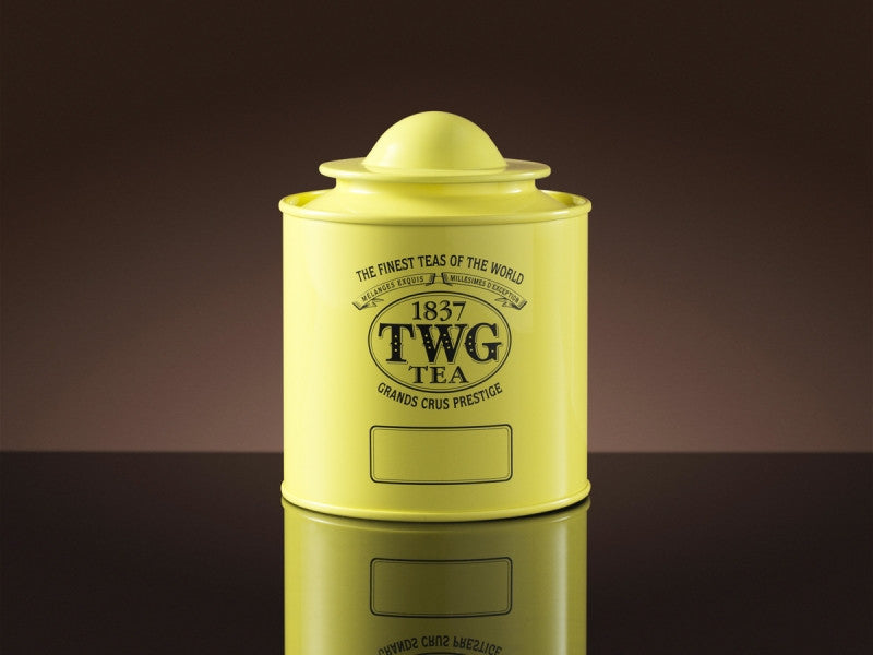 TWG Tea Saturn Tea Tin in Canary Yellow (100g)