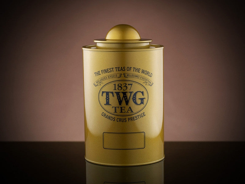 TWG Tea Saturn Tea Tin in Gold (250g)