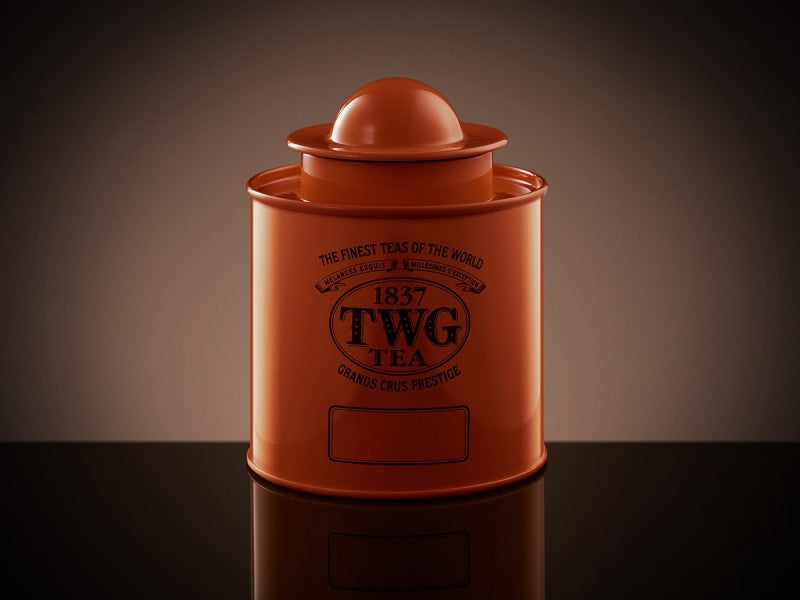 TWG Tea Saturn Tea Tin in Orange (100g)