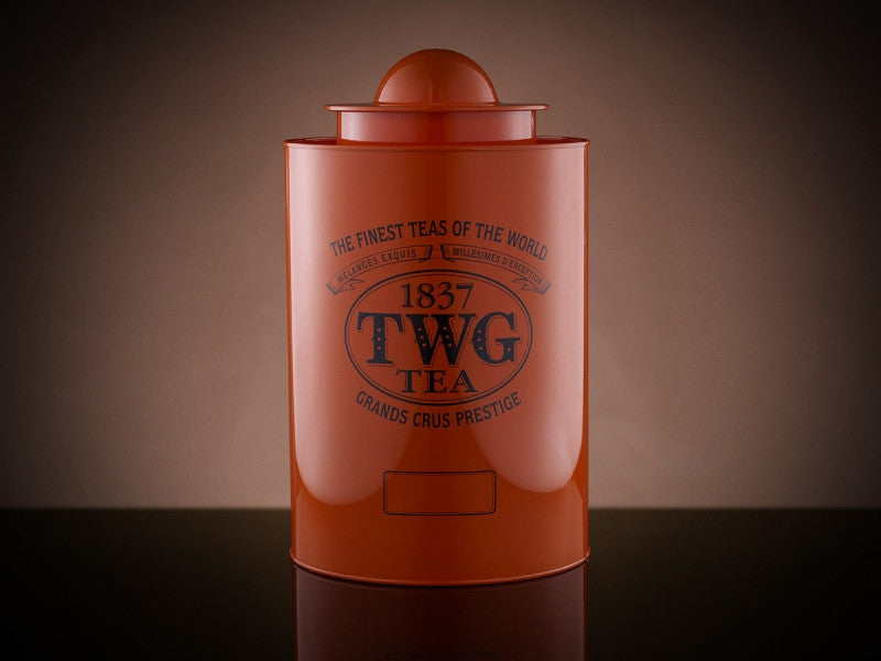 TWG Tea Saturn Tea Tin in Orange (1kg)