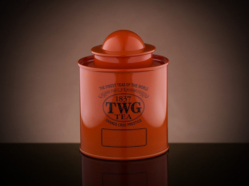 TWG Tea Saturn Tea Tin in Orange (50g)