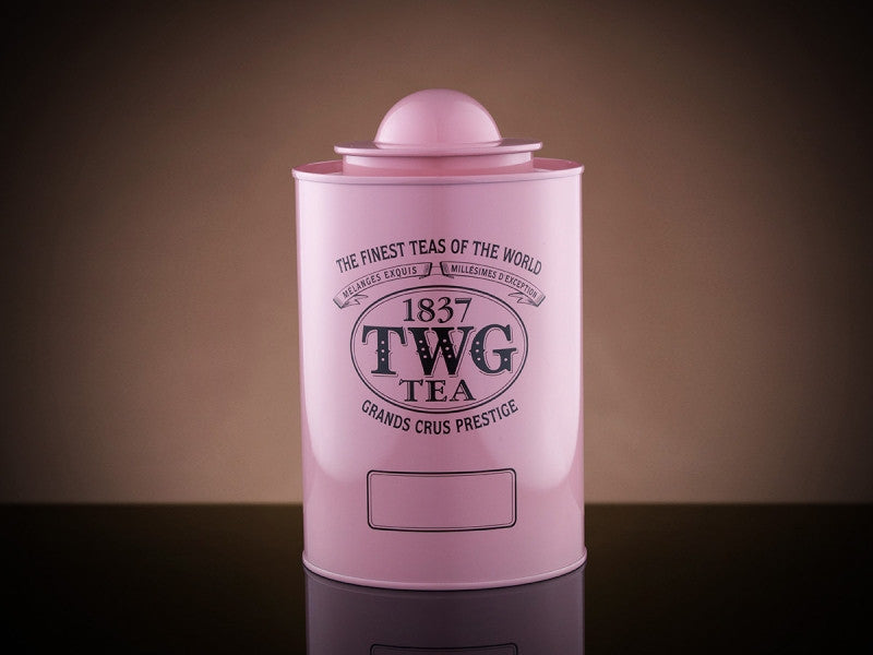 TWG Tea Saturn Tea Tin in Pink (250g)