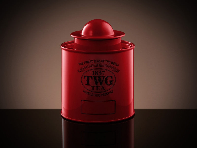 TWG Tea Saturn Tea Tin in Red (100g)