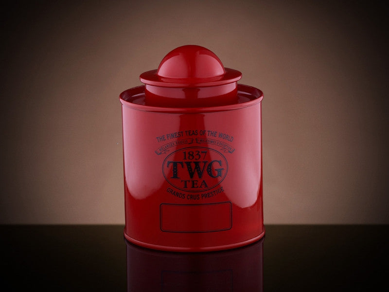 TWG Tea Saturn Tea Tin in Red (50g)