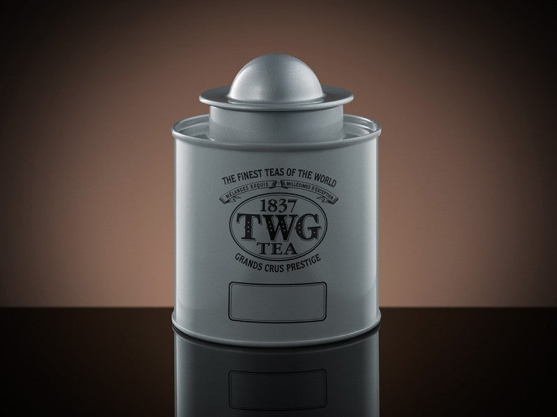 TWG Tea Saturn Tea Tin in Silver (100g)