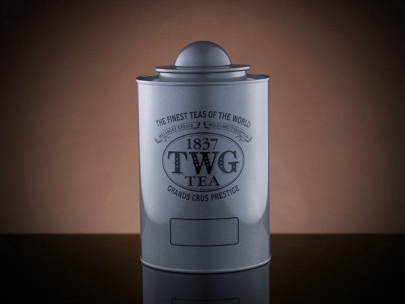 TWG Tea Saturn Tea Tin in Silver (250g)