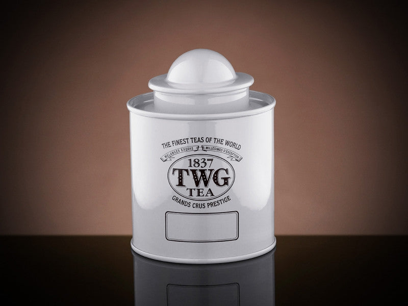 TWG Tea Saturn Tea Tin in White (100g)